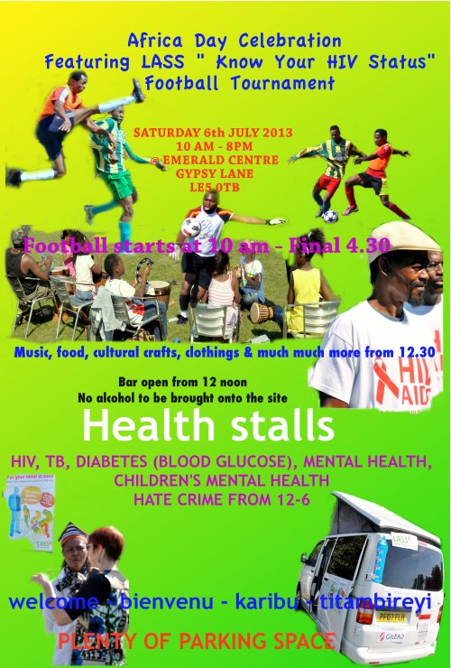 Africa day and football poster