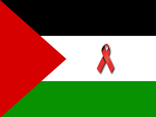 Palestine-flag-with-ribbon