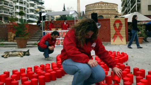 Austerity measures in Greece are raising red flags, and red ribbons. (AP Photo/Nikolas Giakoumidis)