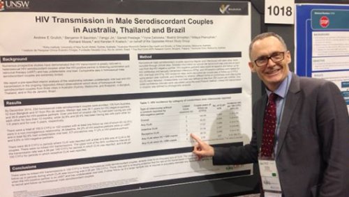 Andrew Grulich at CROI 2015. Image by The Kirby Institute (http://kirby.unsw.edu.au).