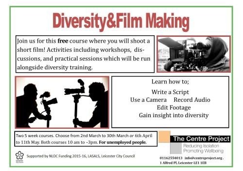 Film Making Course Flyer 2016