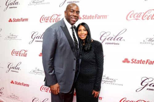 Magic and Cookie Johnson recently celebrated 25 years of marriage (Getty Images)