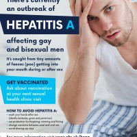 There's currently an outbreak of Hepatitis A affecting gay and bisexual men.